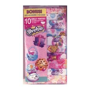 Shopkins -  10-Pack Underwear, Size 8 (NIP)